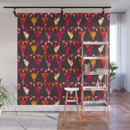 Vibrant triangles Wall Mural
