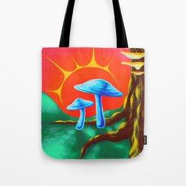 Fairy Toadstools Tote Bag