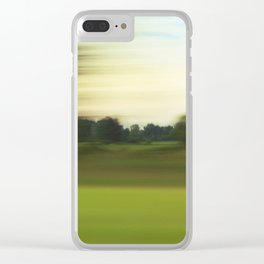 Sea Of Green #1 Clear iPhone Case