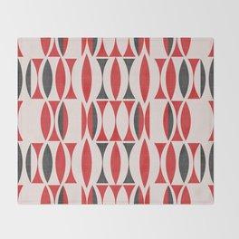 Seventies in Cherry Red (little) Throw Blanket