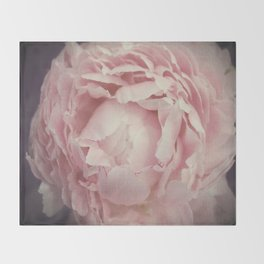 Peony Flower Throw Blanket