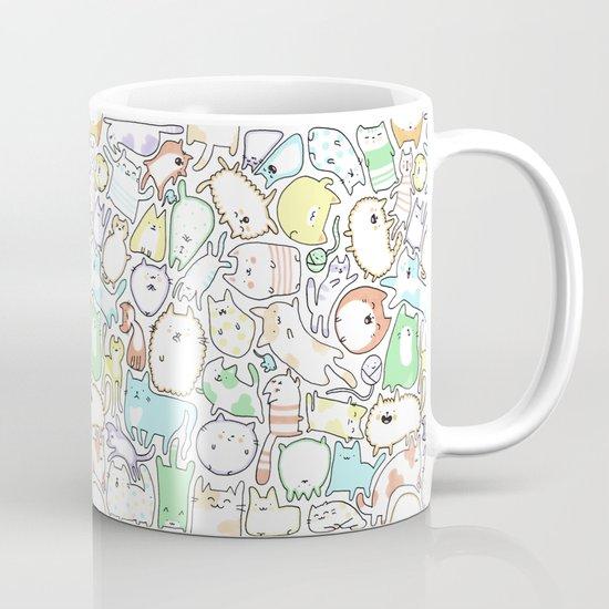 Doodle Cats Coffee Mug By Kirakiradoodles Society6