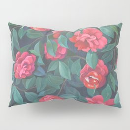 Camellias, lips and berries. Pillow Sham