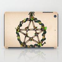 pentagram iPad Cases featuring PENTAGRAM GARLAND by Dianah B