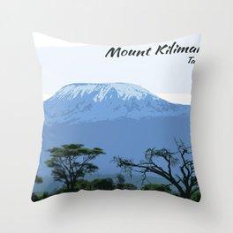 Mount Kilimanjaro Tanzania Africa Throw Pillow