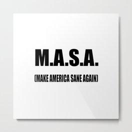 M.A.S.A Metal Print