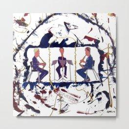 MOZART:  Divertimento for three Basset Horns     by Kay Lipton Metal Print