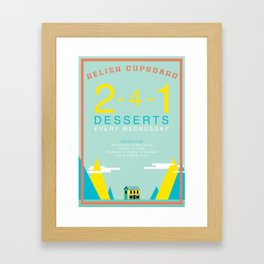 Two For One Desserts Framed Art Print