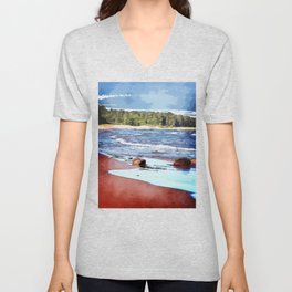 Lake Superior Bay Unisex V-Neck