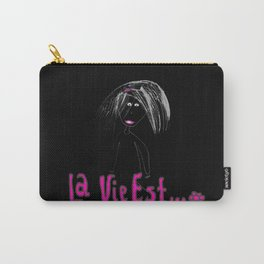 La Vie Est | Belle | Road | Travel |Kids Painting |by Elisavet Carry-All Pouch