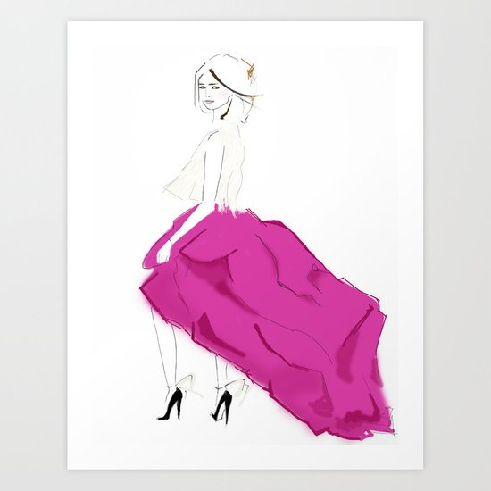 Pink Skirts Art Print