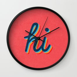Hi - pink version Wall Clock