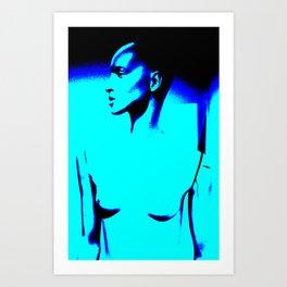Blue Nude #4 Art Print