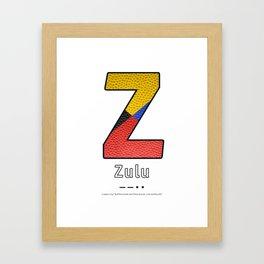 Zulu - Navy Code Framed Art Print