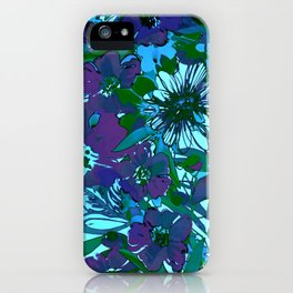 floral melodie in purple iPhone Case