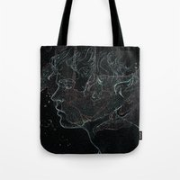 acid Tote Bags featuring Acid by Christina Marie