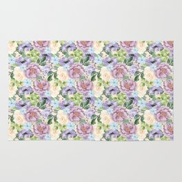 Roses & Forget Me Nots Rug