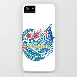 Lahaina Watercolor Whale iPhone Case