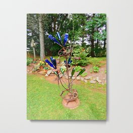 Glass and Steel Garden Art Metal Print