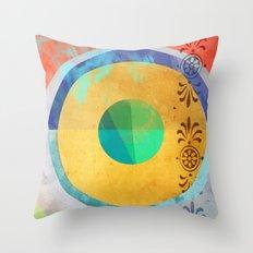 Half Quater Hue Throw Pillow
