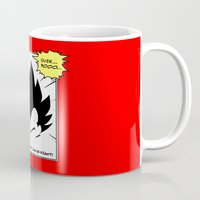 dragonball z Mugs featuring IT'S OVER 9000 (Dragonball, Vegeta)  by SOULTHROW