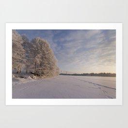 A romantic winter finnish landscape Art Print