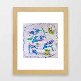 Bosphorus Blues Framed Art Print