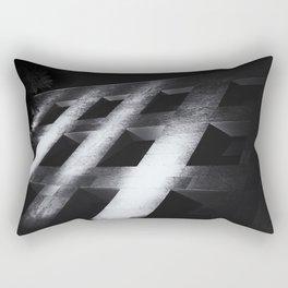Modern black white architectural building night photography Rectangular Pillow