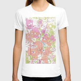 Rochester Michigan Map (1972) T-shirt