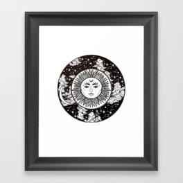Moon. Framed Art Print