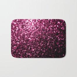 Beautiful Dark Pink glitter sparkles Bath Mat