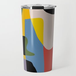 Geometry cut out abstract collage Travel Mug