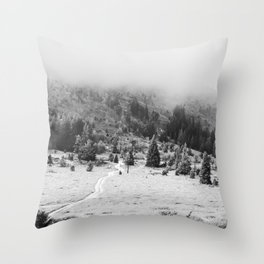 The only way through Throw Pillow
