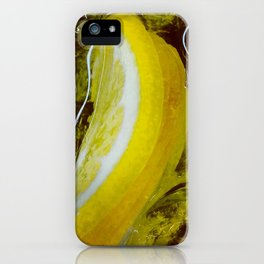 Yellow Lemonade with Ice Cubes iPhone Case