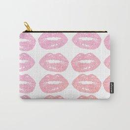 bitten lips gradient pattern doodle Carry-All Pouch