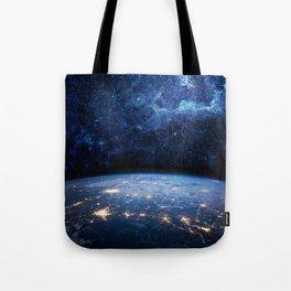 Earth and Galaxy Tote Bag