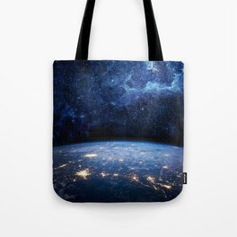 Earth and Galaxy Tote Bag