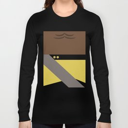 Worf - Minimalist Star Trek TNG The Next Generation - Enterprise 1701 D - startrek - Trektangles Long Sleeve T-shirt