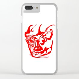 face8 red Clear iPhone Case