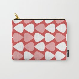 Plectrum Pattern in Blush Pink, White, and Pinkish Red Carry-All Pouch