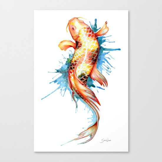 Koi fish canvas print by sam nagel society6 for Koi canvas print