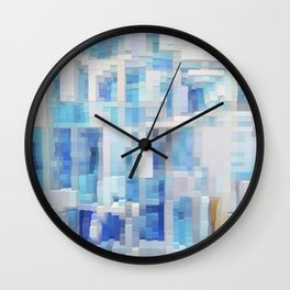 Abstract blue pattern 2 Wall Clock