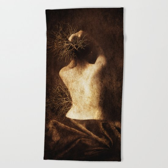 Juliette. Portrait. Beach Towel