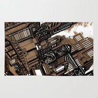 cityscape Area & Throw Rugs featuring Cityscape by David Miley
