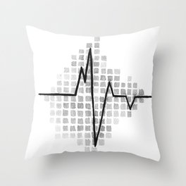 All we Have is Now EKG Throw Pillow