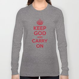 keep God and Carry On - White Book Long Sleeve T-shirt