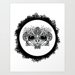 Half Evil Wild Monkey Art Print