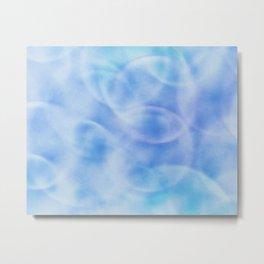 blue rings abstract 2 Metal Print