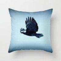 eagle Throw Pillows featuring eagle by Bunny Noir