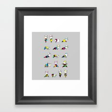 Yoga Bear - 80's Remix Framed Art Print